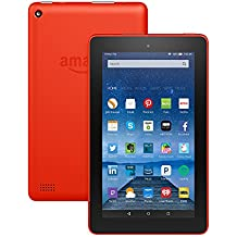 """Fire Tablet with Alexa, 7"""" Display, 16 GB, Tangerine - with Special Offers (Previous Generation - 5th)"""