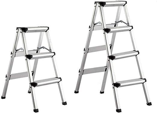 HOMRanger Escalera Taburete Aleación de Aluminio Portátil Plegable ...