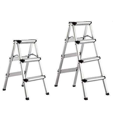 QTQZDD Escalera Taburete Aleación de Aluminio Portátil Plegable Multifunción Práctico Ligero Simple, 3, 4 peldaños Escalera de Doble Uso (Tamaño: A-39x55.5x74cm): Amazon.es: Hogar
