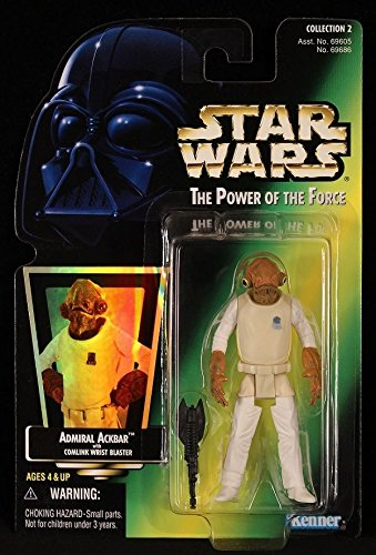 Qiyun 1997 Kenner Star Wars POTF Admiral Ackbar Collection 2 Holo 4 Action Figure 076281696867