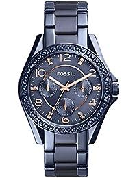 Women's 'Riley' Quartz Stainless Steel Casual Watch, Color:Blue (Model: ES4294)