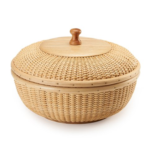 Teng Tian Basket, Nantucket Basket, Basket Tea, Fruit Basket,handicraft, Storage Basket, Desktop Organizer, Woven Rattan, Chinese Traditional Handicrafts, Casual Style, Natural Environmental Protection