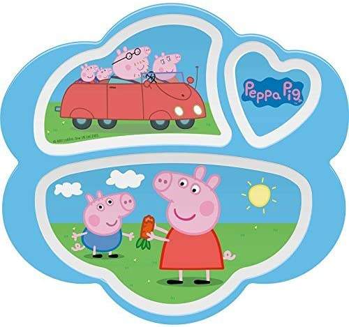 Peppa Pig 3-Section Plate, Break Resistant and BPA-free plastic by Zak! Designs