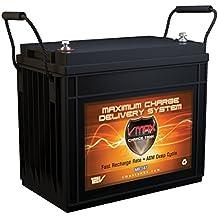 VMAX MR147-155 12V 155Ah AGM Deep Cycle Marine Battery for Minn Kota Pontoon 55 Hand Control 12V 55lb Trolling Motor