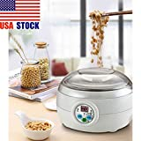 1.5L 220V 15W White Electric Automatic Yoghurt Maker Rice Wine Cuisine Container Yogurt Maker Kitchen Appliance 14x21cm
