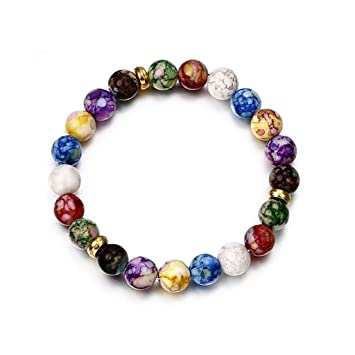 Amazon.com: liumiKK Colorful Beads Rainbow Healing Crystal ...