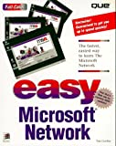 Easy Microsoft Network, Jeffry L. Byrne and Nat Gertler, 0789706822