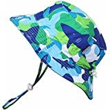Baby 50+ UPF Sun Protection Bucket Hat With Chin Strap, Size Adjustable Aqua Dry