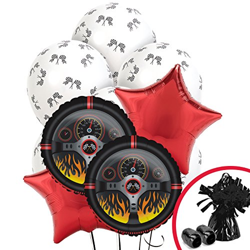 (BirthdayExpress Racecar Racing Party Decorations - Balloon Bouquet )