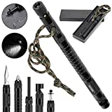 Gifts for Men Dad Boyfriend,Survival Gear Kits 9 in 1 Fishing Hiking Hunting Birthday Gift Ideas for Husband Him Son, Emergency Survival Tool