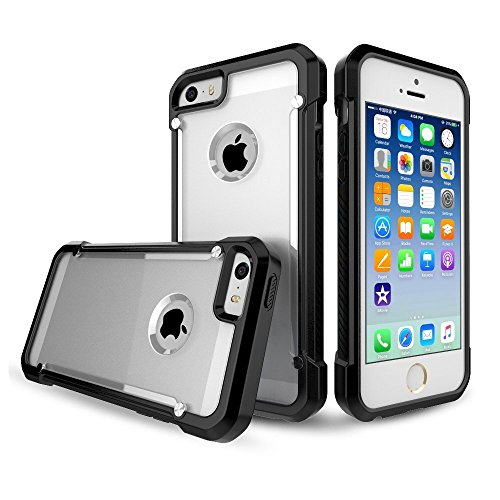iphone 5 case, BRIDGOR Brand Matte Material Scratch-Resistant Durable Protective Case For Apple Iphone 5/5S/SE (Black)