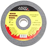 Hot Max 26002 6-Inch by 3/4-Inch by 1-Inch Arbor Bench Grinding Wheel, 80 Grit
