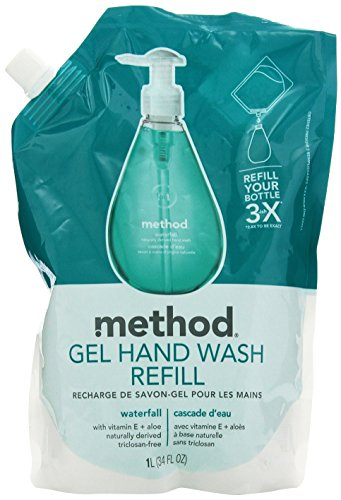 Method Gel Hand Wash Refill, Waterfall, 34 Ounce (Pack of 2) ()