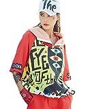 Cool Girls Trendy Womens Sport Zip Hoodie Big Eyes Ohhhh Printed Hip Hop Street Dance