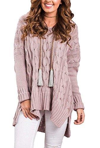 AMAURAS Size 4-30 Women Casual Loose Sweater Top - Ladies Oversized Knit Tunic Shirt