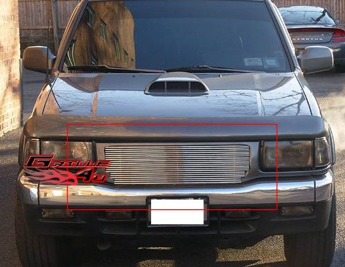 APS I85105A Polished Aluminum Billet Grille Replacement for select Isuzu Pickup Models