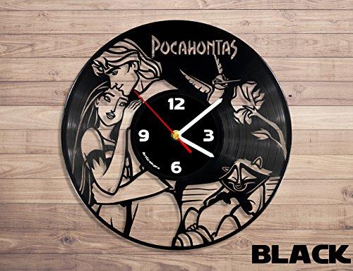 Pocahontas vinyl record wall clock