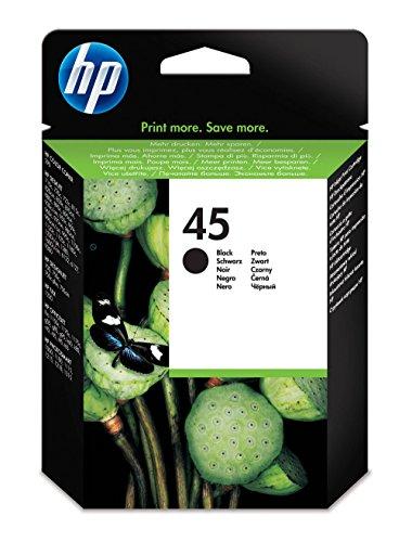 HP 45 Black Original Ink Cartridge (51645A) - Hewlett Packard Ink Cartridges 60
