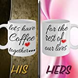 FUNNY WEDDING ENGAGEMENT GIFTS for bride/groom/her/him/men/women/just/newly/engaged couples from parents,C handled,Ceramic,White,Unique,awesome,customized,personalized, best novelty Coffee mugs ever