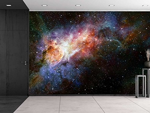 wall26 - Beautiful Multicolored Galaxy - Wall Mural, Removable Sticker, Home Decor - 100x144 inches by wall26 (Image #2)