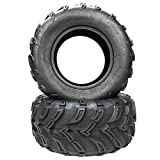 Pair ATV UTV Tires Size 25x10-12 25/10-12 6 Ply Rated Rear Tire P377