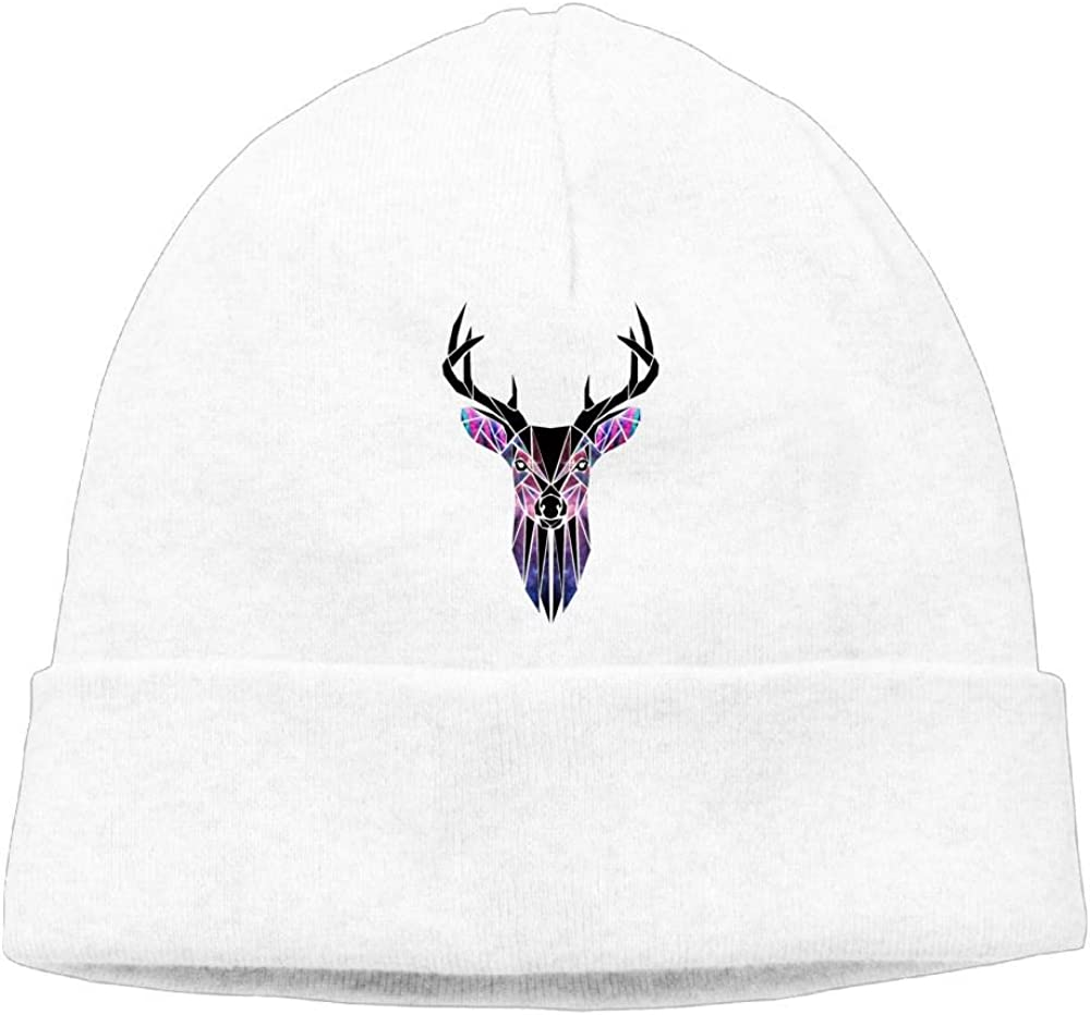 Poii Qon Deer Geometry Beanie Hat Knit Cap Woman Man