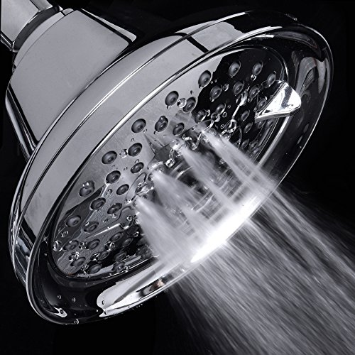 Mist Shower Head High Pressure Multi Function 2.5 GPM Powerful Spray, Best Shower Massage Wall Mount Fixed Shower for Modern Luxury Bathroom, High Flow High Power Jet Adjustable Chrome Shower Head by SAKAIKA (Image #6)