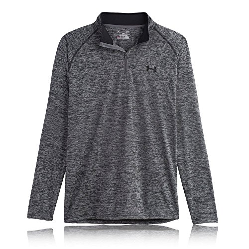 Under Armour Men's Tech 1/4 Zip, Black/Graphite, Medium