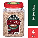 RiceSelect Orzo Whole Wheat Pasta, 26.5 oz Jars (Pack of 4)