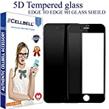 CELLBELL® Apple iPhone 7 Plus (5D)(BLACK) Full Body Premium Quality Tempered Glass Screen Protector Guard