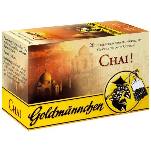 Goldmännchen Chai Tee ohne Coffein, 20 einzeln versiegelte Teebeutel, 6er Pack (6x 40 g)