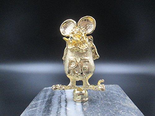 Vintage Rat Fink Ed Roth 24Kt Gold Plated Car Hood Ornament