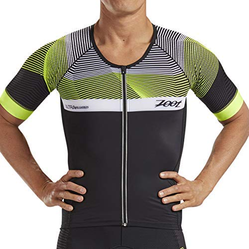 Zoot Men's Ultra Short Sleeve Aero Tri Jersey - Performance Triathlon Top with Carbon Fiber and 2 Pockets ()