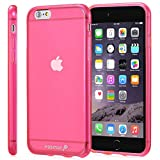 Fosmon (Dura-Fro) Apple iPhone 6s Plus / 6 Plus Case - Slim-Fit Flexible Gel Cover for iPhone 6s Plus / 6 Plus - Fosmon Retail Packaging (Hot Pink)