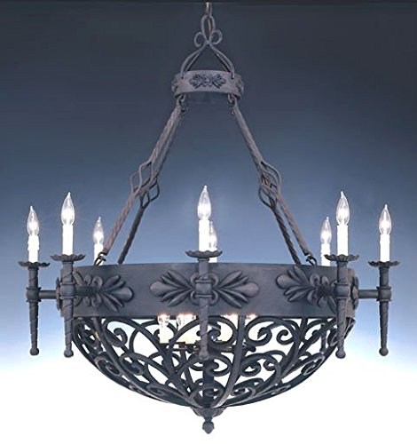 Designers Fountain 9189-NI Alhambra 14 Light (Forged Wrought Iron Hanging Chandelier)