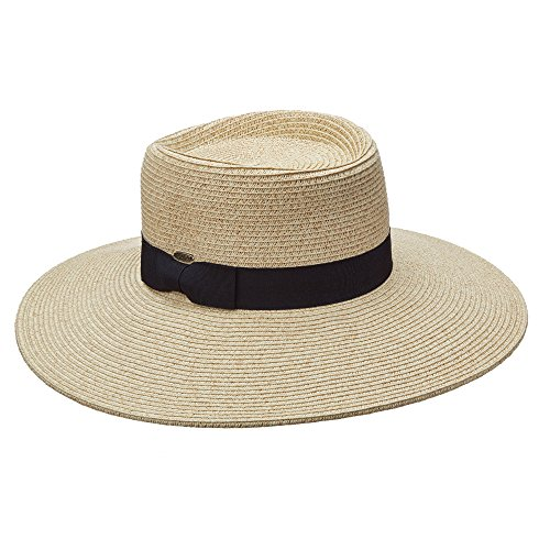 SCALA COLLEZIONE HUGE 4 INCH BRIM UPF50+ PAPER BRAID SUN HAT (LP237)