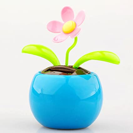3b6a90d52160c Amazon.com  Outstanding Solar Power Flip Flap Dancing Flower for Office  Home Ornament  Home   Kitchen