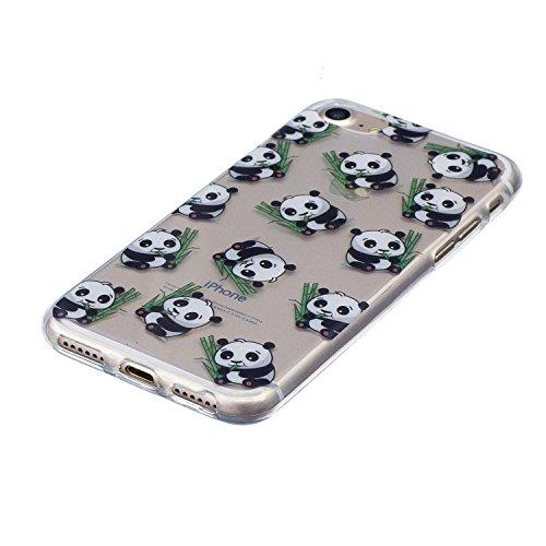 iPhone 8 Hülle Netter Panda Premium Handy Tasche Schutz Transparent Schale Für Apple iPhone 8 + Zwei Geschenk