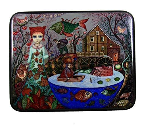Kholui Russian Lacquer Box AUTUMN #3871