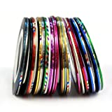 Sannysis 30 Color Rolls Striping Tape Line Nail Art Decoration Sticker