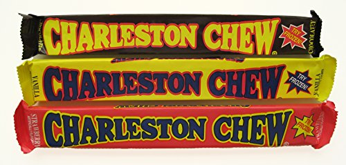 Charleston Chew Chewy Nougat Candy 3 Flavor 9 Bar Variety Bundle ()