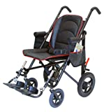 Executive Deluxe Travel Wheelchair Package (16'', Black Leather)
