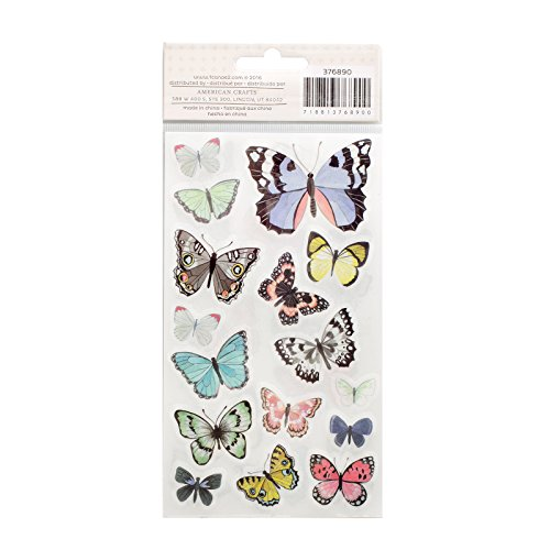 American Crafts 376890 1 Canoe 2 Hazelwood Stickers 2 Sheet Butterfly Rub Ons