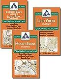 Denver/Boulder Backpacking Map Pack: Indian Peaks/James Peak, Mount Evans, Lost Creek