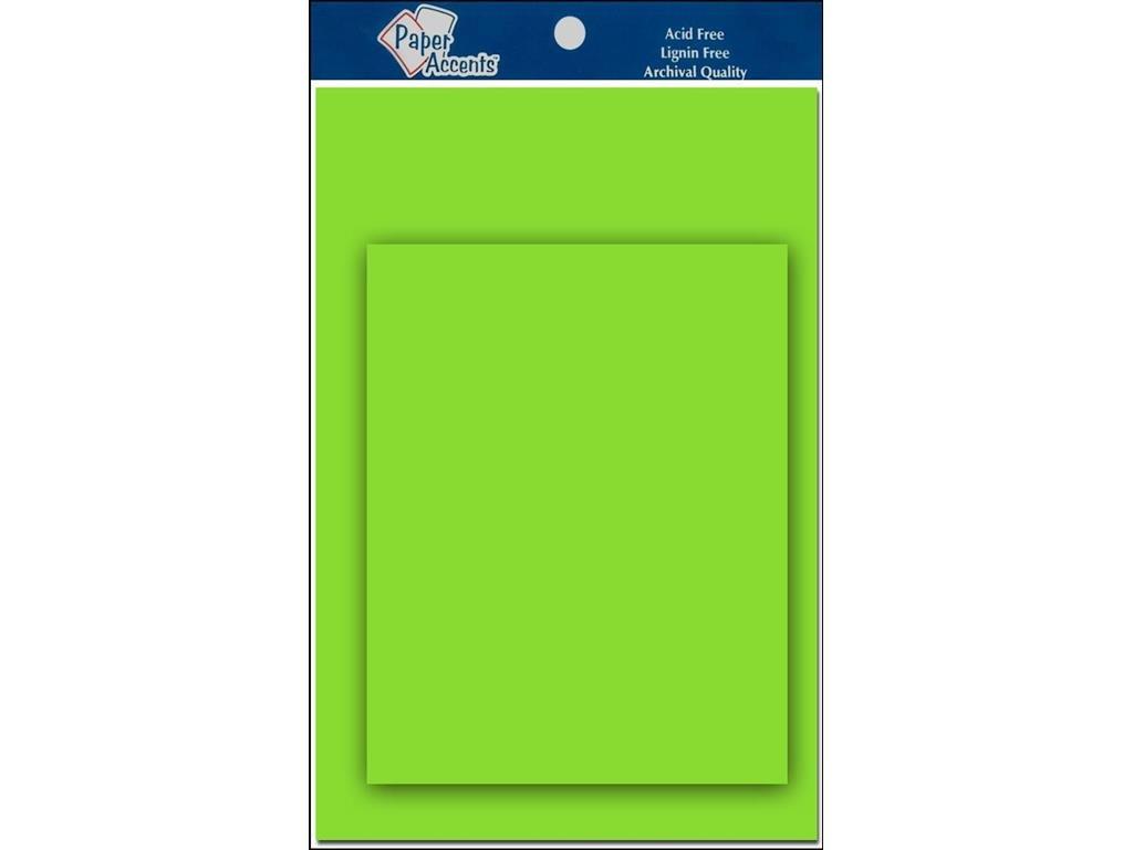 アクセント デザイン ペーパー アクセント 4.25x5.5 C&E ライムグリーン B005DEG60Q