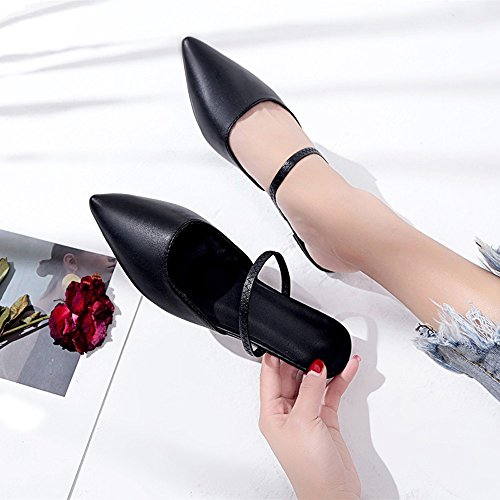 Shoes Women's Pointed Farjing Slip Casual Clearance Women Color On Sale Pure nbsp; Flats Soft for Shoes Shoes Black Toe Bottom fqPCBxwqg