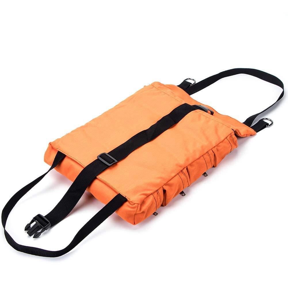 con 5 Tasche Multiuso Borsa portautensili Pieghevole QEES GJB301-H Colore: Arancione