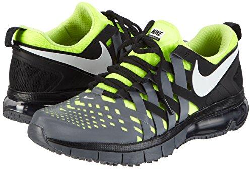 meet c738c ef5d1 Nike Mens Fingertrap Max Running Shoes, Black White-Dark Grey-Volt,