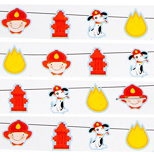 Fire Engine 'Rescue Pals' Party Garland (1ct) -