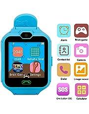 Hangang Reloj para Niños Smartwatch Niño para llamadas SOS localizador de dispositivo para niños seguro, antipérdida, reloj inteligente podómetro, SOS en tiempo real, seguimiento de los padres